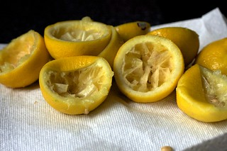 lemons, drained