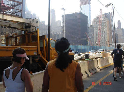 Passing World Trade Center Site Near the Finish
