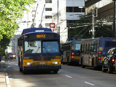 Seattle trolley bus