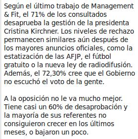 Laura Capriata, para La Nación (27-09-09). Clic para ir al artículo completo.