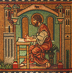 St Luke writes his Gospel