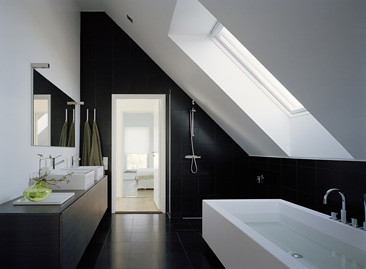 bathroom slanted ceiling