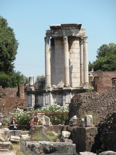 This is what remains of the Temple of Vesta, where the Vestal Virgins worked.