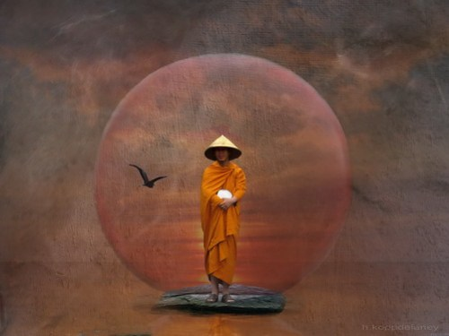 Waiting Monk by h.koppdelaney