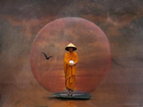 Waiting Monk by h.koppdelaney