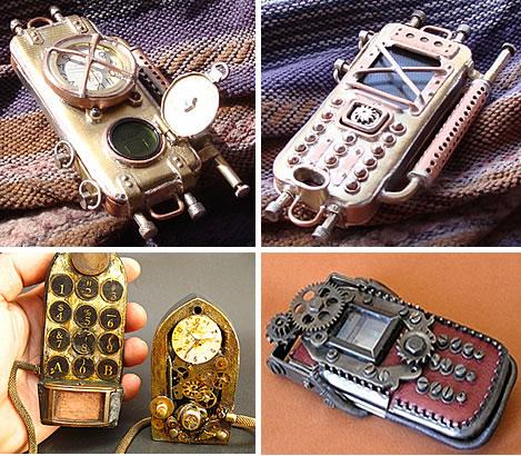 steampunk telepon genggam