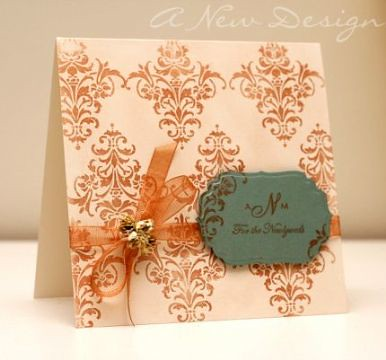 Finalist 3: Ashley Newells Newlywed Monogram Card
