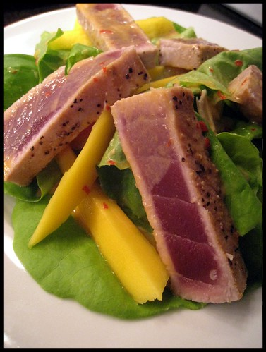 Mango Salad with Seared Tuna