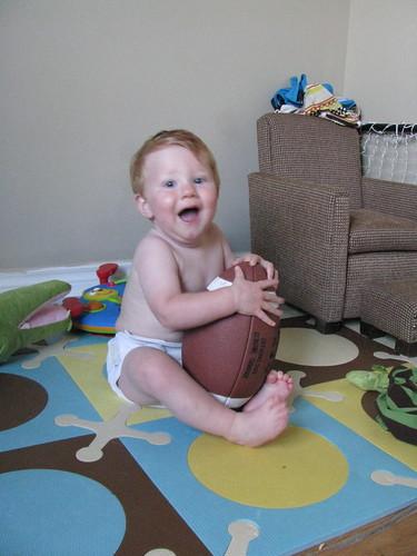 I have a football!!!!