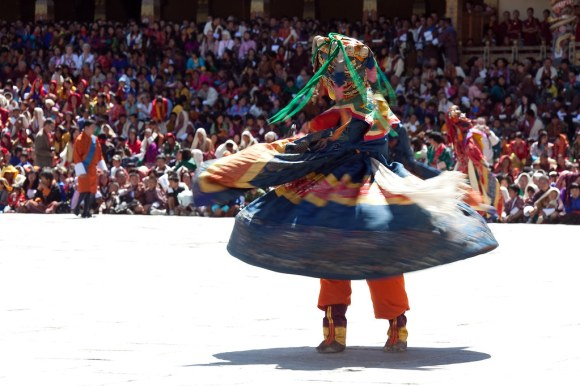 Mask Dance at the Thimphu Tshechu