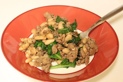 Crumbs & Creativity | Turkey, Spinach & Canellini Beans