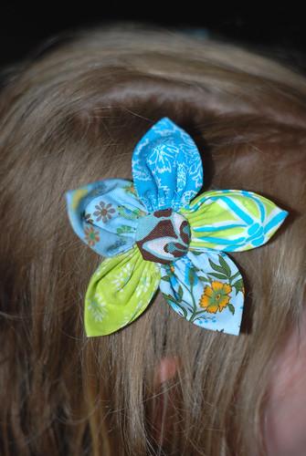 217/365 petal flower hair bow