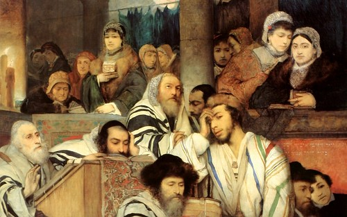 Gottlieb - Jews Praying in the Synagogue on Yo...