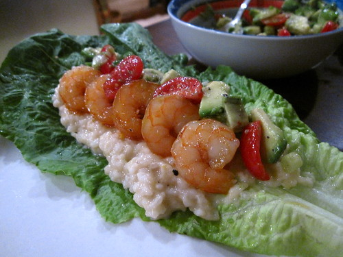 Sweet & Spicy Garlic Shrimp Lettuce Wraps