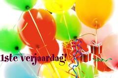 een verjaardagskaart voor de blog
