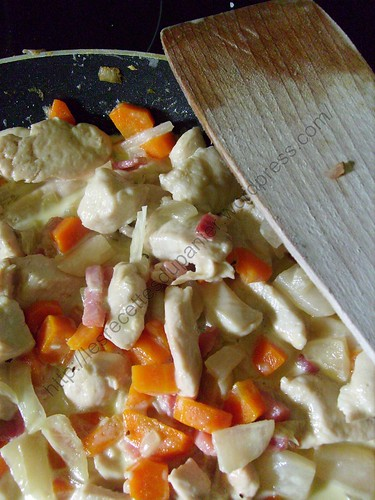 Emincé de poulet aux légumes d'automne / Sliced chicken with fall vegetables