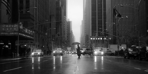 Rainy Avenue of the Americas