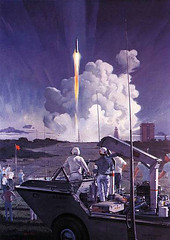 Robert-McCALL--Mercury-launch,-Cape-Canaveral