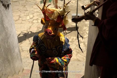 Preparing for a cham dance in Korzok village