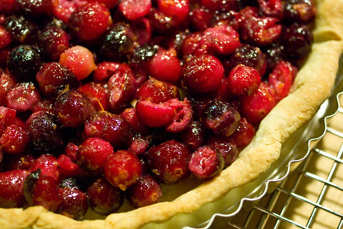 cranberry crumble tart
