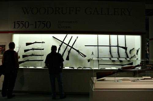 Calvin looking at the Woodruff Gallery gun display at the Buffalo Bill Historical Center in Cody, WY.