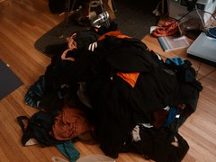 ...I still had ALL these clothes to somehow transport to Lucys.