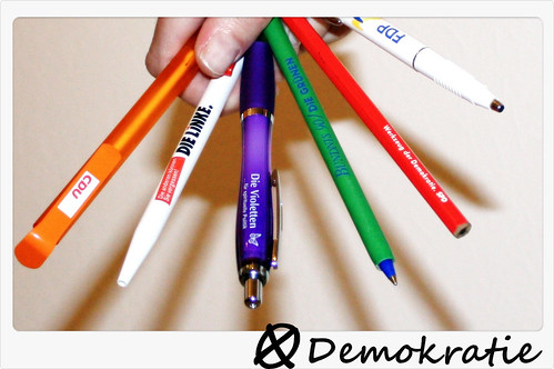 ツ Some look at this picture and see pencils... I look at it and see democracy