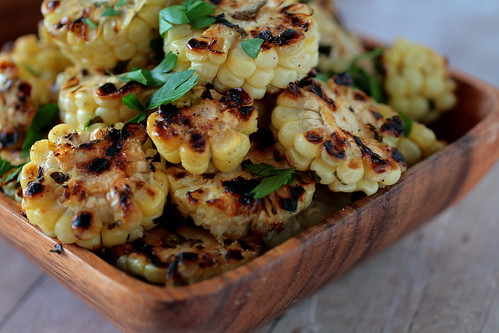 Grilled Corn Coins