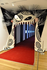 Tim Burton Exhibit Entrance