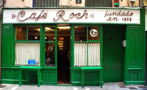 «Café Roch», en la Calle Comedias de Pamplona, el café más antiguo de Pamplona, fundado en 1898.