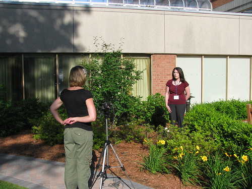 Kim Interviews Conference Attendees