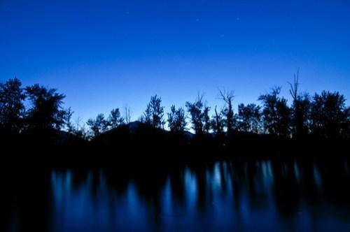 Hamilton, Montana - Night Shot