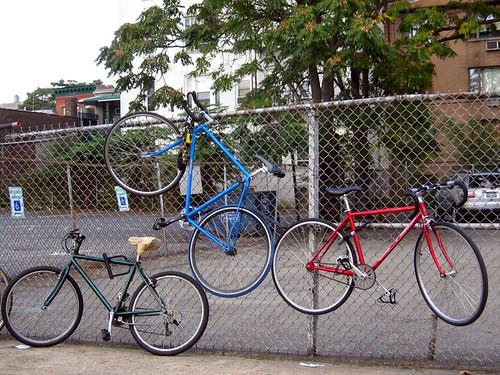 Levitating bikes in Queens.