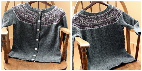 Full view, Plum Frost Cardigan