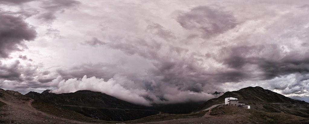 """Thunderstorm over Pass """"Penser Joch"""" (Südtirol, Italy)"""
