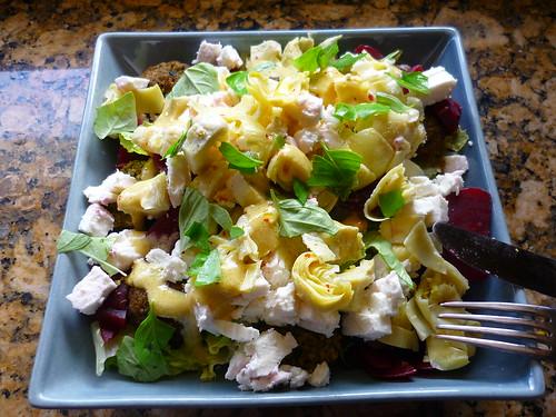 Falafel & feta salad