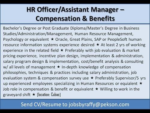 HR Officer / Assistant Manager