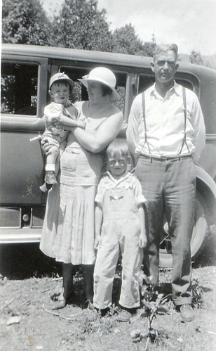 Here she is a few years later with her husband and two young sons. The youngest is my grandpa.