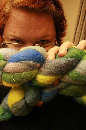 Hand Dyed Corridale.