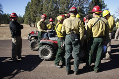 Firefighters prepare for prescribed burn