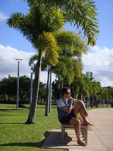 Sul lungomare di Cairns...