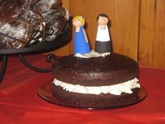 A giant wedding whoopie pie!