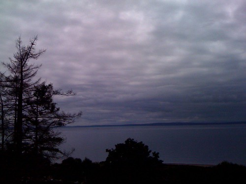 The view at the midpoint of our bike ride. (Also what's UP with this weather?!) by you.