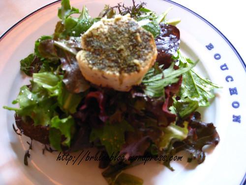 Bouchon - Salade Maraichère au Chèvre Chaud