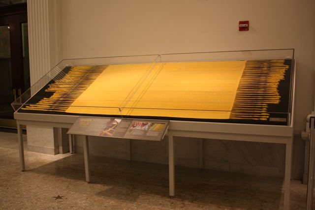 Spider silk tapestry, threads extracted from Golden Orb Spiders in Madagascar