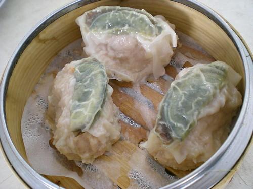 HongFu century egg dumplings
