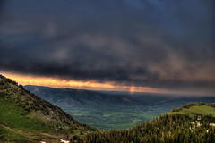 Clearing skies over Morgan, Utah
