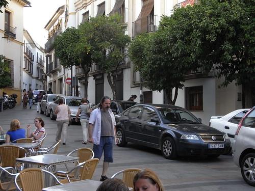 Peatonalización a la cordobesa. Calle Blanco Belmonte Casco Historico Córdoba.