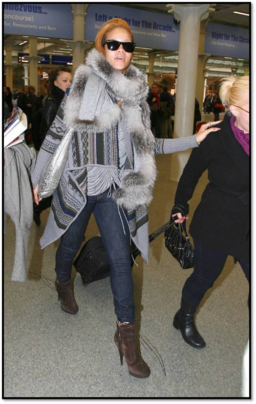 Rihanna Out and About in Sweater,Jeans in London 11-13 2