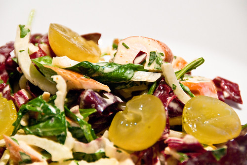 Smoked chicken breast salad